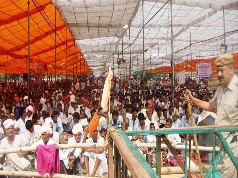 भारतीय किसान संघ के किसान अधिकार रैली में लाखों की तादाद